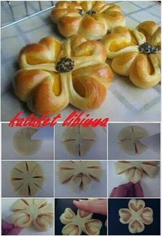 56 Gorgeous from Each Other of Homemade Pastries, Easy Food Decorations - Delicious Food Kids Pastry Recipes, Bread Recipes, Dessert Recipes, Cooking Recipes, Bread Shaping, Fingerfood Party, Homemade Pastries, Bread Bun, Bread And Pastries