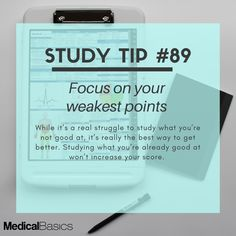 Know your weak points and build from them Study Motivation Quotes, Study Quotes, School Motivation, Life Hacks For School, School Study Tips, School Tips, Effective Study Tips, Exams Tips, Study Techniques