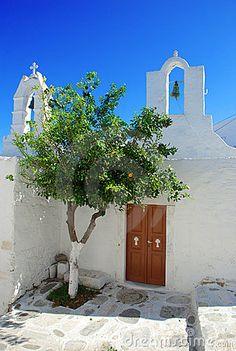 Greek church, typical Aegean island architecture. Paros, Greece  Click and like my Facebook page: https://www.facebook.com/SeedingAbundanceNow