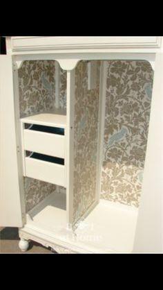 Inside armoire
