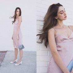 84bb75289dc7 Ana Prodanovich - Urban Outfitters Slip Dress, Jeffrey Campbell Shoes White  Round Flats - Slinky