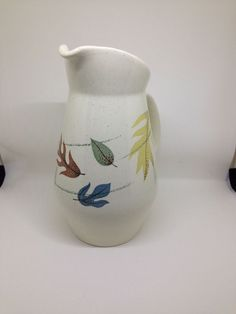 Franciscan Autumn Leaves Milk Pitcher Pattern Gladding McBean Vintage #franciscan