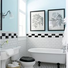 These bathrooms feel so fresh and vibrant, perfect for a bright new day's start.