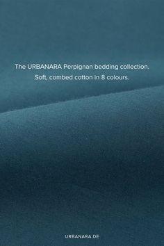 Unsere puristische Bettwäsche Perpignan überzeugt mit hochwertiger Baumwolle, die von unseren Partnern in Portugal zu edlem Perkal verarbeitet wird. Transparente Knöpfe an der Bettdecke sowie der Kissenbezug mit Einschlag unterstreichen den hohen Qualitätsanspruch und den eleganten Stil. Entdecken Sie handverlesene Heimtextilien und Wohnaccessoires in höchster Qualität im Online Shop von URBANARA. Natural Bedroom, Oeko Tex 100, Soft Blankets, Bedding Collections, Linen Bedding, No Time For Me, Colours, Portugal, Cotton