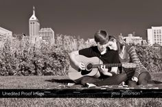 Engagement photo idea. perfect if my stepdaughter marries her boyfriend since they both have a guitar