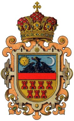 Arms of the Grand Principality of Transylvania used from 1765 until 1867 Kids Castle, Vlad The Impaler, Family Shield, Family Roots, Emblem, Family Crest, Crests, Horror Films, Coat Of Arms