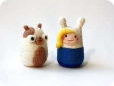 Adventure Time Needle-felteds | Geek Crafts