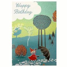 Moomins Little My Birthday Card Official Greetings Gift Present Moomin Birthday Board, Birthday Wishes, Happy Birthday, Cute Little Things, Little My, Tove Jansson, Bday Cards, Calvin And Hobbes, My Childhood