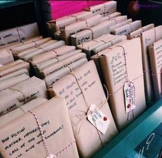 A bookstore where all books are wrapped in paper with a short description so nobody can judge a book by its cover.