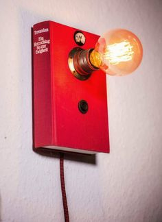 This item is unavailable Book Lamp, Retro Lighting, Personalized Books, Vintage Stil, Different Light, Light Bulb, Recycling, Wall Lights, My Etsy Shop