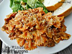 Get dinner on the table in minutes with our 20-Minute Skillet Lasagna from SixSistersStuff.com.
