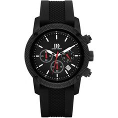 Danish Design Red Rubber Band Stainless Steel Chronograph Men's Watch for sale online Rubber Bands, Silicone Rubber, Danish Design, Stainless Steel Case, Quartz Watch, Red Color, Chronograph, Watches For Men, Accessories