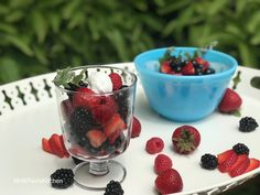 Very Berry Salad-Tasty and healthy dessert to have for brunch or snack! Great to make when guests are at the door! Vegan Gluten Free, Vegan Vegetarian, Raspberry, Strawberry, Berry Salad, Blueberry, Berries, Brunch, Tasty