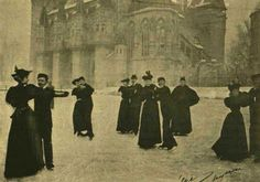 Figure skaters in Budapest, circa 1896