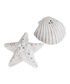 Look what I found on #zulily! Seashell & Starfish Salt & Pepper Shakers #zulilyfinds