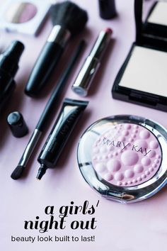 Lips, cheeks, eyes, oh my! This full makeup look has you covered with foundation, concealer and all! Finish with Sheer Dimensions™ Powder for allover luminosity and a camera-ready complexion. | Mary Kay
