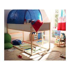 KURA Bett umbaufähig IKEA Umgedreht verwandelt sich das Bett schnell von einem niedrigen Bett in ein Hochbett.