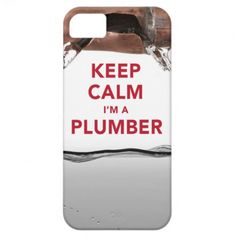 """Cool """"Keep Calm I'm a Plumber"""" iPhone 5/5S Case #plumber #construction #iphone5s"""