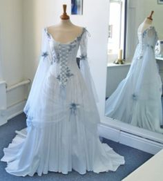 traditional irish clothes  | The traditional Irish wedding dress had blue in it. This is the dress ...