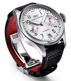 Men watches: IWC - Big Pilot's Watch Edition DFB. Best Looking Watches, Best Watches For Men, Amazing Watches, Luxury Watches For Men, Beautiful Watches, Cool Watches, Iwc Chronograph, Iwc Watches, Swiss Army Watches