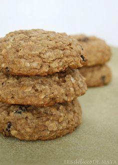 De bien bons biscuits que je qualifierais plutôt de galettes tellement ils sont dodus et moelleux. Genny suggérait d'y mettre des pomme... Cookie Desserts, Cookie Recipes, Moussaka, Biscuit Cookies, Creative Cakes, Biscotti, Kids Meals, Muffins, Deserts