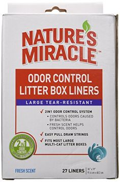 Nature's Miracle Odor Control Litter Box Liners, 27 Count #deals