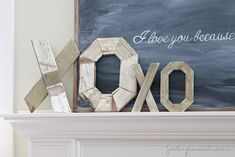Diy Rustic Wood Letters And My Valentine