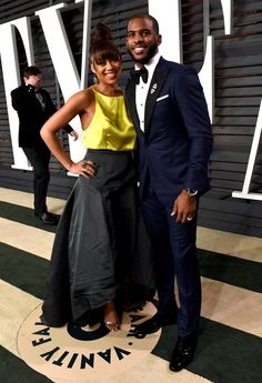 Pin for Later: Les Stars se Sont Laissé Aller à la Soirée Vanity Fair Chris Paul et Jada Crawley