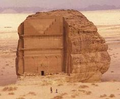An ancient archaeological  site in Saudi Arabia