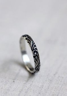Rustic renaissance sterling silver wedding ring by PraxisJewelry, $26.00 Praxis Jewelry