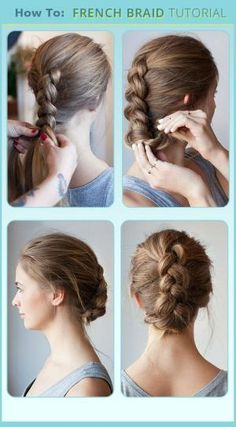 7 Unbelievable Tips and Tricks: Funky Hairstyles For Long Hair women hairstyles bun.Funky Hairstyles For Long Hair. French Braid Updo, French Braid Hairstyles, Hairstyles With Bangs, Cool Hairstyles, Braided Updo, Ladies Hairstyles, Sport Hairstyles, Athletic Hairstyles, Bouffant Hairstyles