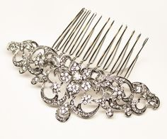 Romantic Rhinestone Bridal Hair Comb ~ Dawn - Designer Bridal Hair Accessories & Jewelry by Hair Comes the Bride including Hair Combs, Bridal Hair Pins, Tiaras, Headbands and Veils