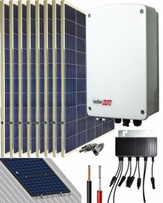 Kit Conexión Red SolarEdge 2000W 10800Whdia Monofásico Kit Solar, La Red, Radiators, Home Appliances, Storage, Home Decor, Solar Panels, Solar Power, Get Well Soon
