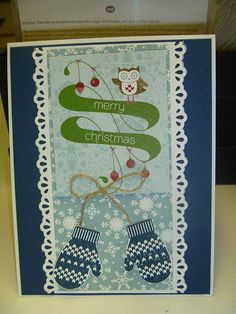 Love the mittens. All supplies from Stampin' Up.