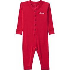 Personalized Ruffle Toddler Long John, Red, Toddler Unisex, Size: 3 Years