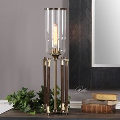 Brand new beautiful home accent. Rostand Transitional Wood Column Hurricane Accent Lamp by Uttermost #accentlamp #lamp #lighting #homeaccessories  #innovationsdesignerhomedecor #homedecor #interiordecor #homedecorations #homedecorshopping #uniquehomedecor #homedecoration  $173.80  ➤ http://bit.ly/2u7qSVm