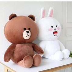 Hot Sale Cute Brown Teddy Bear Plush Toy White Rabbit Stuffed Soft Doll Friend Plush Toy Kids Toy Gift For Girlfriend Teddy Day, Cute Bear, Brown Teddy Bear, Chinchilla, Cute Plush, Big Plush, Bear Wallpaper, Cute Stuffed Animals, Cute Toys