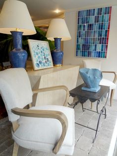 Animal hide chairs