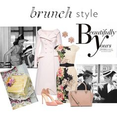 Dessert First! by joybug9 on Polyvore featuring Phase Eight, Dice Kayek, Francesco Russo, MICHAEL Michael Kors, ABS by Allen Schwartz, Sonam Life, Pink, PinkDress and brunchstyle