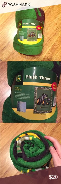 9ea1b16f7baf John Deere Tractor Plush Blanket 4ft x 5ft NWT 🎉 Brand new with tags! Thank