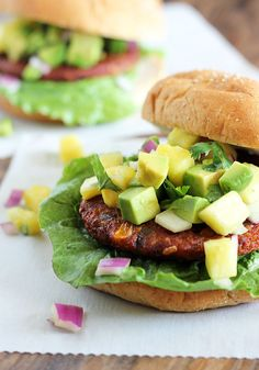 Freshen up burger night with these delicious veggie patties. Topped ...