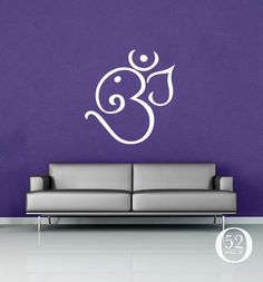 Ganesh Om Wall Decal Vinyl Decor by 52WallSt on Etsy, $29.00
