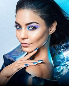 Prom Makeup For Brown Eyes, Eyeshadow For Brown Eyes, Blue Makeup, Vanessa Hudgens Makeup, Vanessa Hudgens Style, Teen Choice Awards, High School Musical, Makeup Tips, Beauty Makeup