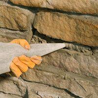 Repairing a stone wall