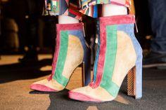 Just Cavalli's rainbow booties