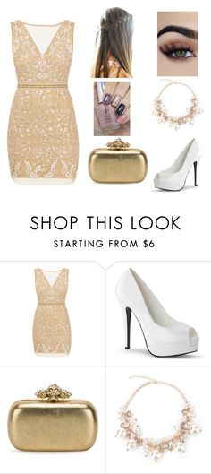 """""""starfall"""" by raven-431 ❤ liked on Polyvore featuring Nicole Miller and Alexander McQueen"""