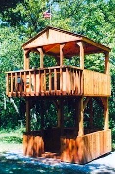 1000 images about treehouse on pinterest tree houses for How to build a 2 story playhouse