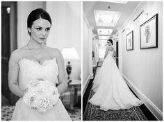 Hochzeitsportraits der Braut mit langer #Schleppe und #außergewöhnlichem #Brautstrauß •  Bride with a long trail and an extraordinary flower bouquet