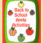 FREE! These are fun activities to use with students when you come back to school or when teaching an apple unit. You can print the materials in color and...