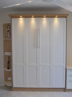 Full Size Murphy Bed With White Cabinet Bed (for nursery/guest ...
